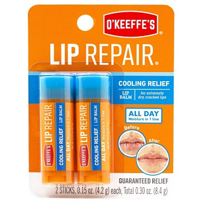 O'Keeffe's Lip Repair Cooling Twin Stick - 0.30oz