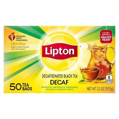 Lipton Decaffeinated Black Tea Bags - 50ct