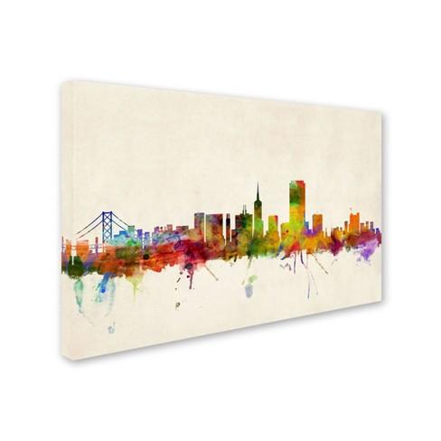 San Francisco, California\' by Michael Tompsett Ready to Hang Canvas ...