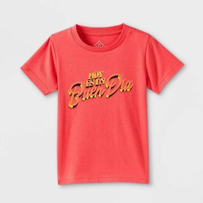 Latino Heritage Month Toddler Hoy es un buen dia Short Sleeve T-Shirt - Red