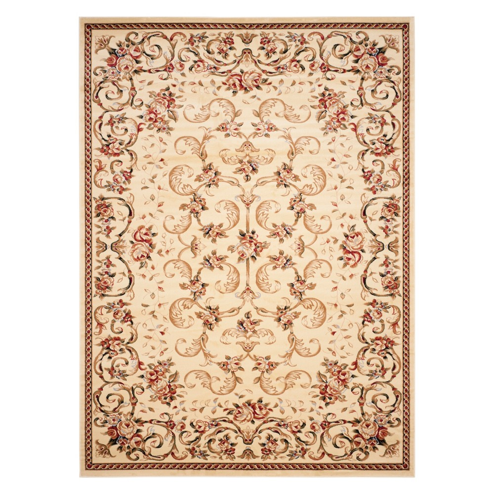 8'X11' Floral Loomed Area Rug Ivory - Safavieh, White