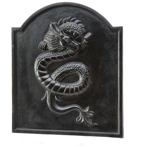 Cast Iron Fireback With Dragon Design - Plow & Hearth - image 1 of 1