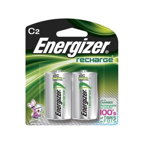 Nickel Metal Hydride Battery >> Energizer Recharge C Nickel Metal Hydride Batteries 2 Ct Nh35bp 2
