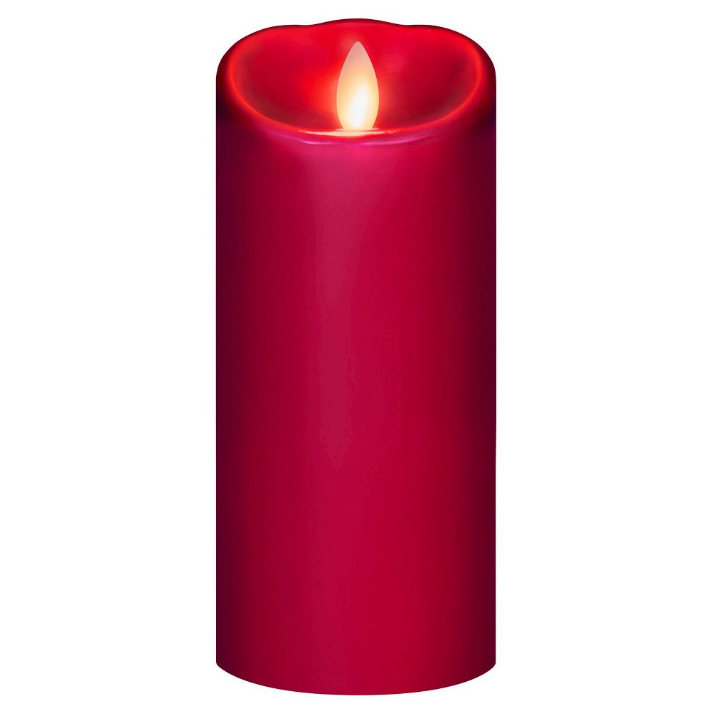 "Image of ""Battery Operated Led Candle Red 3""""x7"""" - Mirage"""