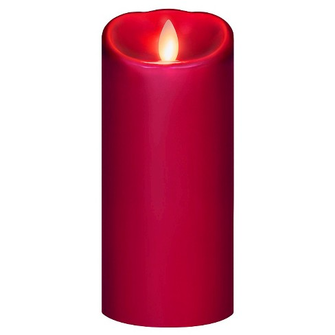"""Battery Operated LED Candle Red 3""""x7"""" - Mirage - image 1 of 2"""