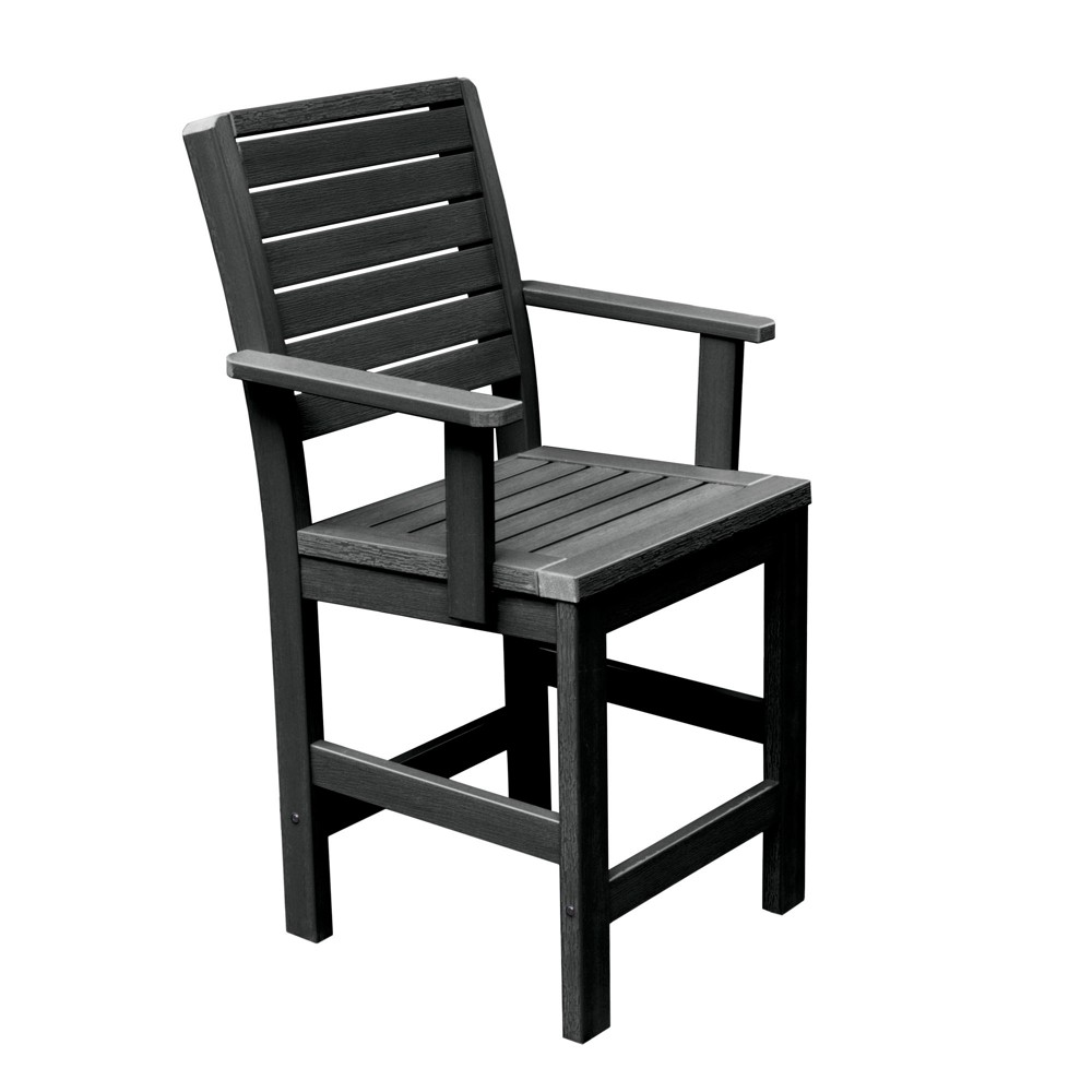 Weatherly Counter Armchair Black - Highwood