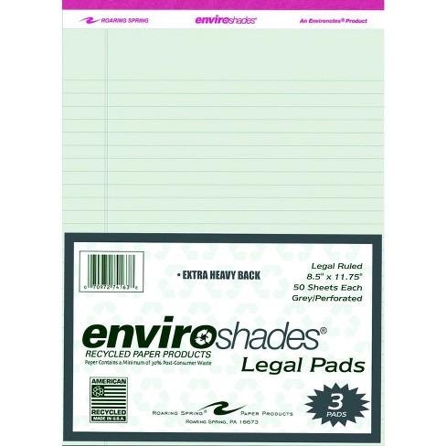Enviroshades Legal Pad, 8-1/2 x 11-3/4 Inches, Gray, 50 Sheets, pk of 3 - image 1 of 2