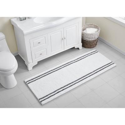Hotel Border Memory Foam Bath Runner White - VCNY