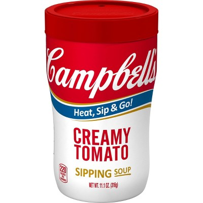Campbell's Creamy Tomato Microwaveable Sipping Soup - 10.75oz