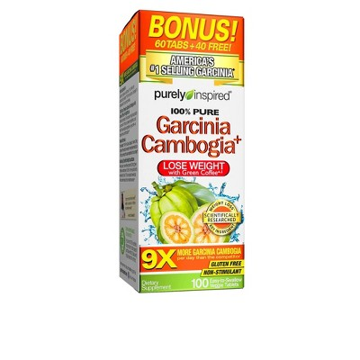 Purely Inspired 100 Pure Garcinia Cambogia Dietary Supplement Tablets 100ct Target