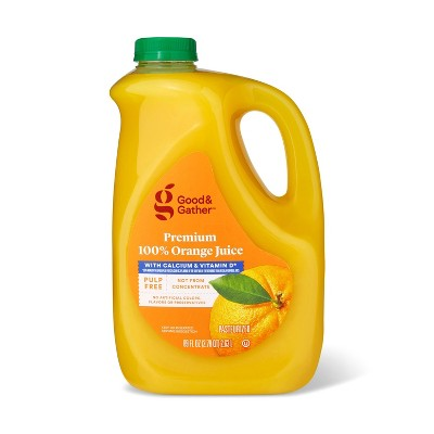 Pulp Free 100% Orange Juice Not From Concentrate w/ Calcium & Vitamin D - 89 fl oz - Good & Gather™
