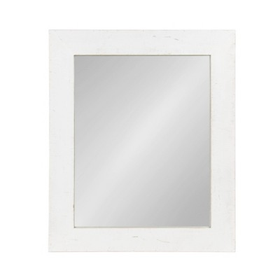 """30"""" x 36"""" Garvey Wood Framed Wall Mirror White - Kate and Laurel"""