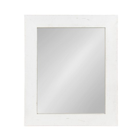 """36""""x30"""" Garvey Wood Framed Wall Mirror White - Kate and Laurel - image 1 of 4"""