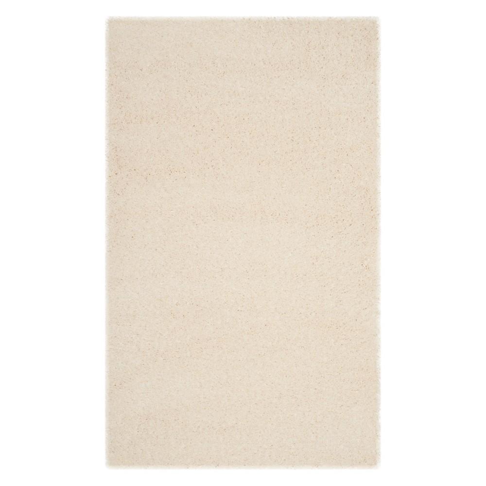 4'X6' Solid Loomed Area Rug Cream (Ivory) - Safavieh