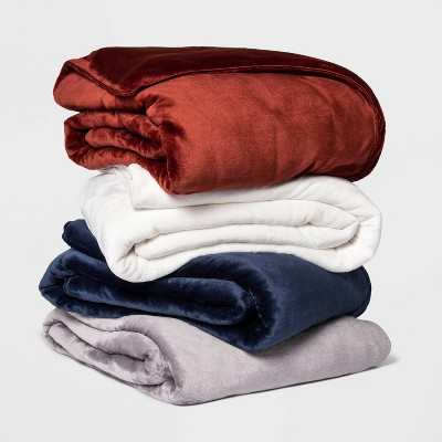 Microplush Weighted Blanket with Removable Cover Collection - Threshold™