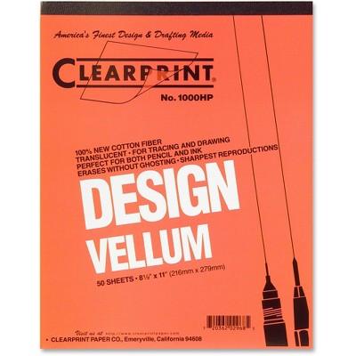 "Chartpak Vellum Pad 50 Sheets Acid-free 8-1/2""x11"" White 10001410"