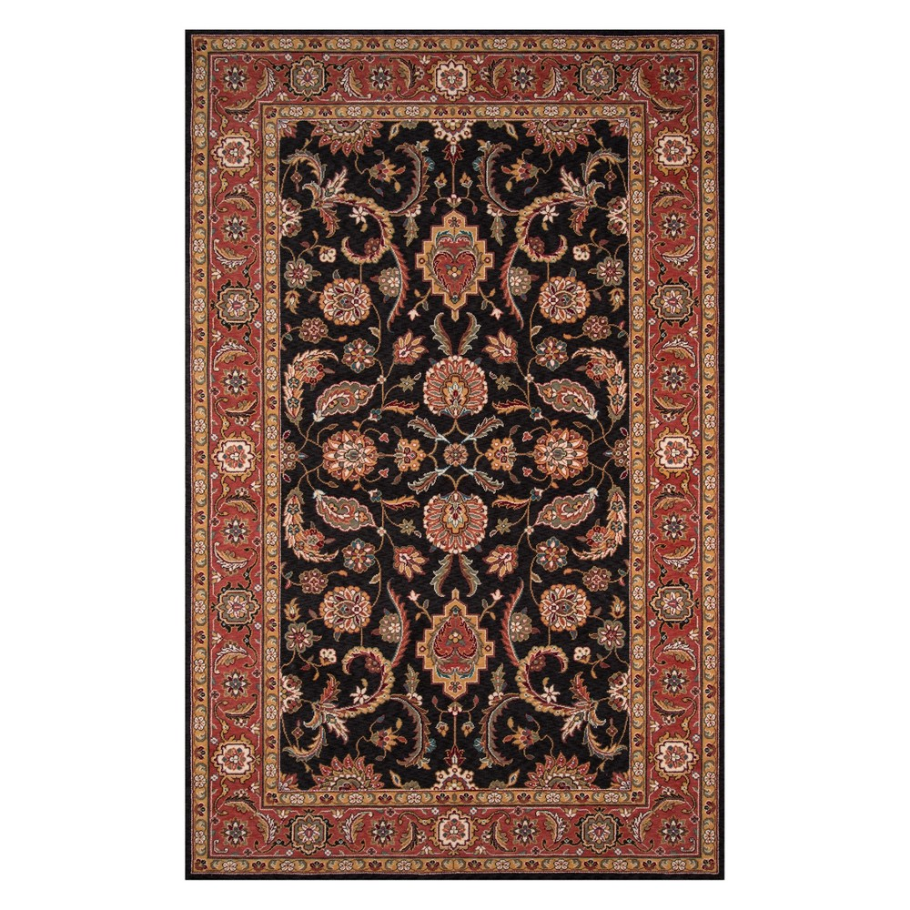 8'X10' Floral Loomed Area Rug Salmon (Pink) - Momeni