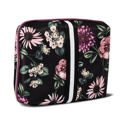 Sonia Kashuk™ Cosmetic Bag Beauty Organizer Dark Floral with Webbing