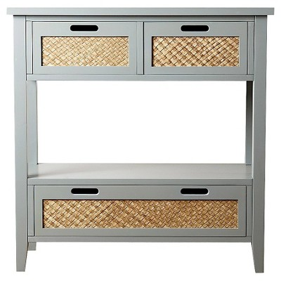 Robins Console Sofa Table Antiqued Steel Blue - Abbyson Living