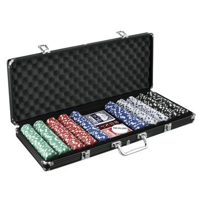 John N. Hansen 500 Chip Poker Game Set