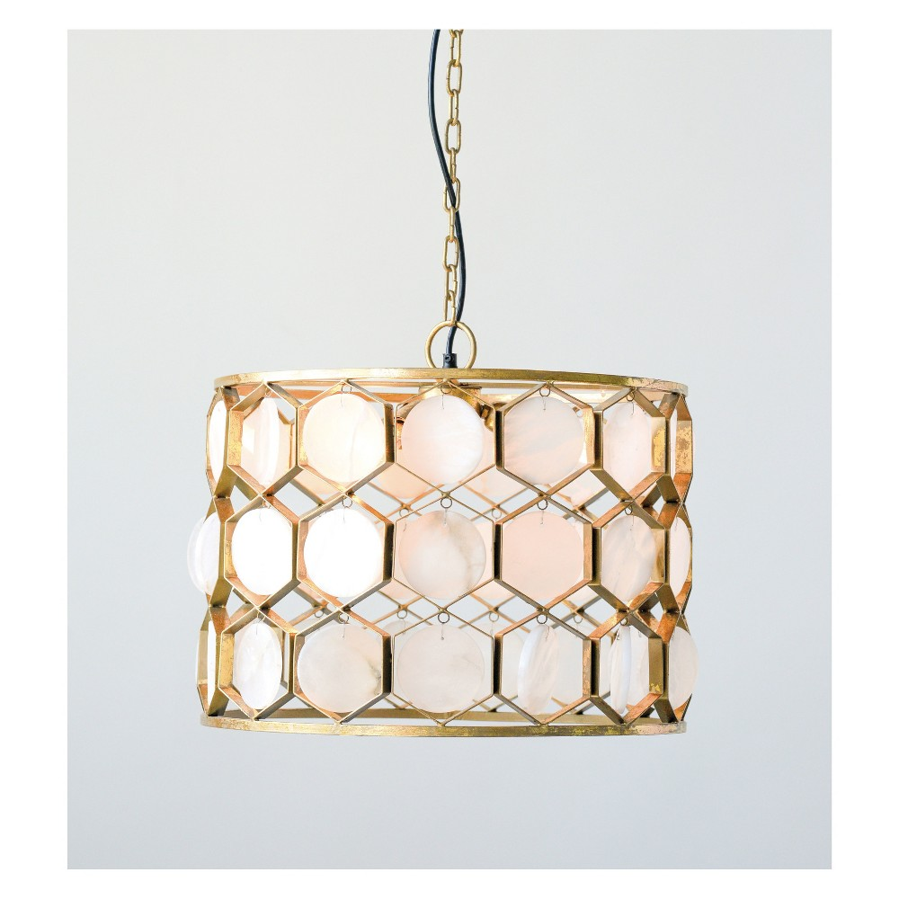 Metal Marble Pendant Lamp 15H - 3R Studios, Gold