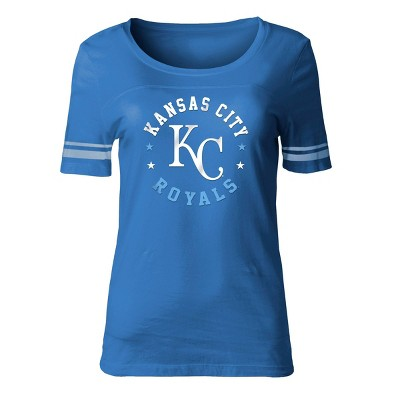 MLB Kansas City Royals Women's Poly Rayon Fashion T-Shirt