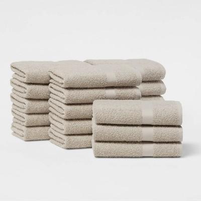 18pk Hand Towel Bundle Sand - Room Essentials™
