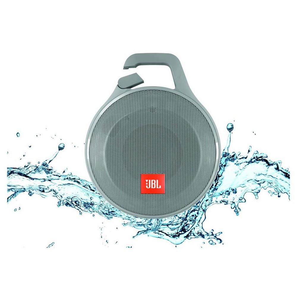 JBL Clip+ Splashproof Bluetooth Speaker - Gray