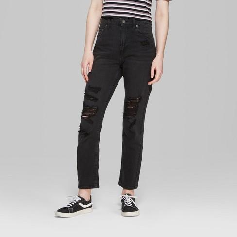 fb94ebc965 Women's High-Rise Mom Jeans - Wild Fable™ Black : Target