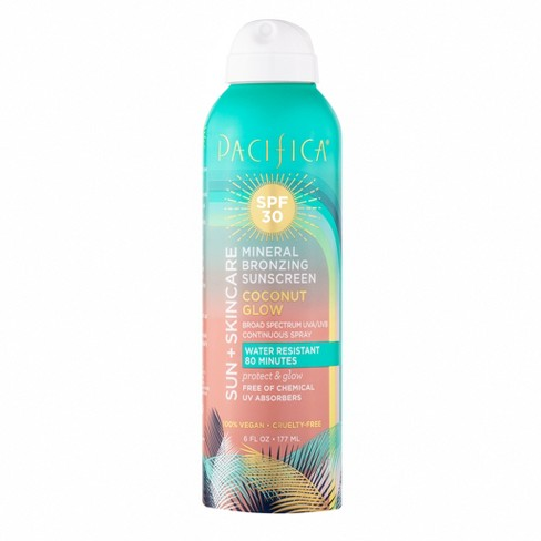 Pacifica Bronzing Spray Mineral Sunscreen - SPF 30 - 6 fl oz - image 1 of 3