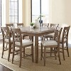 9pc Fran Counter Height Dining Set Weathered Gray - Steve Silver - image 3 of 4