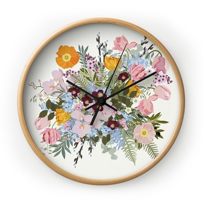 Iveta Abolina Astrid Morning Round Wall Clock - Deny Designs