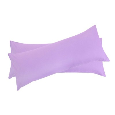 2 Pcs Body 1800 Series Soft Brushed Microfiber Pillow Cover Lilac - PiccoCasa