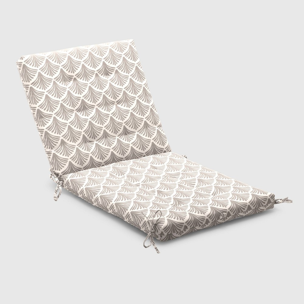 Fan Outdoor Tufted Chair Cushion Taupe (Brown) - Threshold