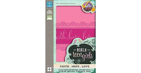 Bible for Teen Girls : New International Version, Pink, Italian Duo-tone, Growing in Faith, Hope, and - image 1 of 1