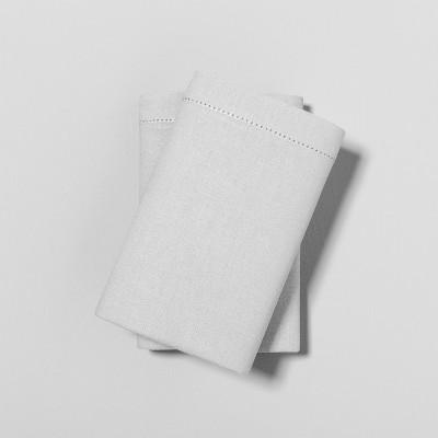 Standard Pillowcase Set Linen Blend Jet Gray - Hearth & Hand™ with Magnolia