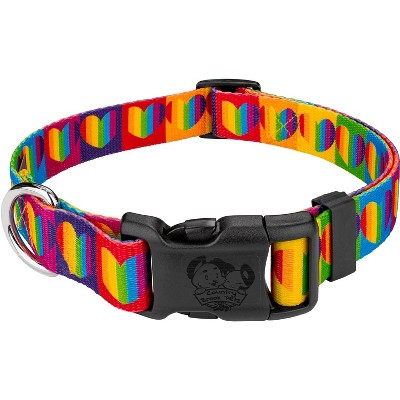 Country Brook Petz® Deluxe Rainbow Hearts Dog Collar - Made In The U.S.A.