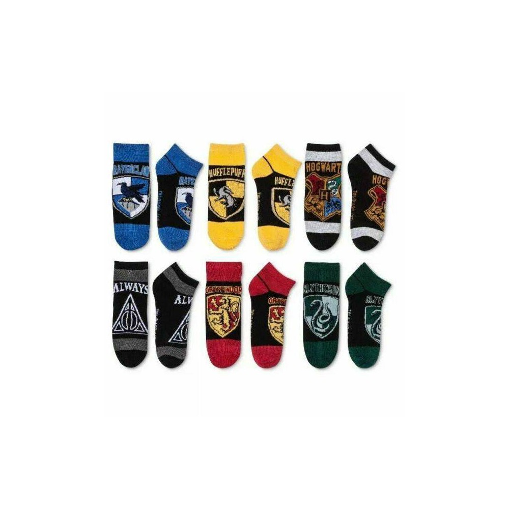 Image of Women's Harry Potter Houses 6pk Low Cut Socks - Colors May Vary One Size, Women's, Red