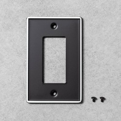2pk Metal Painted Enamel Toggle Switch Plate Black - Hearth & Hand™ with Magnolia