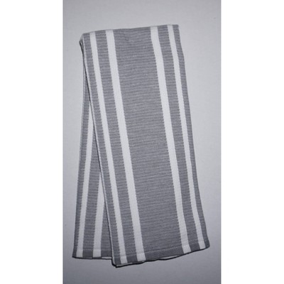 2pk Cotton Striped Terry Kitchen Towels Gray - Threshold™