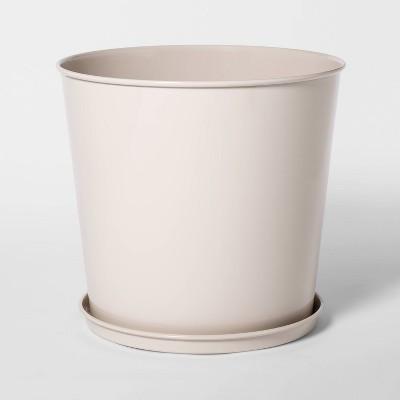 10.5  x 10  Enameled Metal Planter Cream - Smith & Hawken™