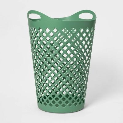 2.2bu Flexible Laundry Hamper Crisp Green - Room Essentials™