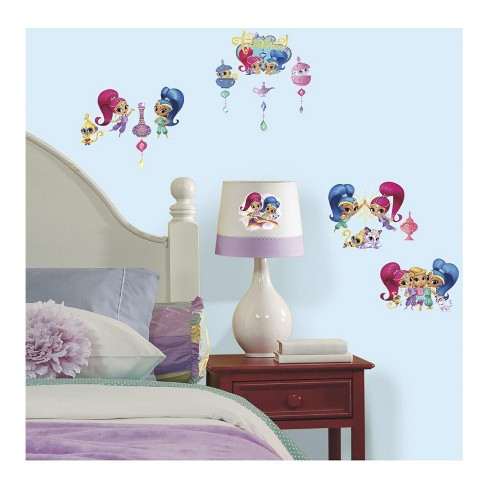 Shimmer And Shine Wall Decals With Glitter - image 1 of 1