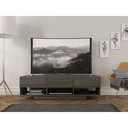 60 Rustic Tv Stand Bark Gray Nexera