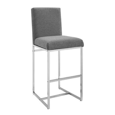 Strange Trey Bar Stool Silver Linon Machost Co Dining Chair Design Ideas Machostcouk