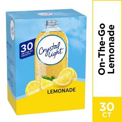 Crystal Light On the Go Lemonade Water Enhancer - 30pk/0.11oz Packets