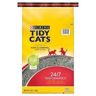 Purina Tidy Cats Non-Clumping 24/7 Performance Multiple Cats Litter - 25lbs