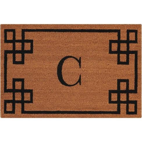 """Nourison Elegant Entry """"C"""" Natural Doormat EECMC 2' x 3' - image 1 of 1"""