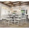 Byrd Square Wood Counter Height Dining Table Antique White - Sun & Pine - image 2 of 4