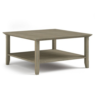 """36"""" Normandy Solid Wood Square Coffee Table - Wyndenhal"""